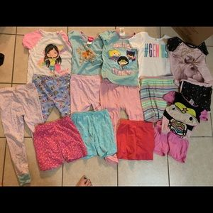 Girl's 5T pajama shorts lot